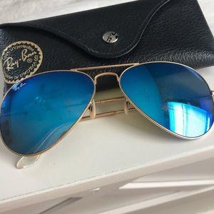 Blue frame raybans